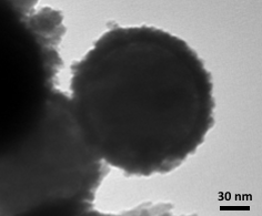 FeOx on SiO2 nanoparticles